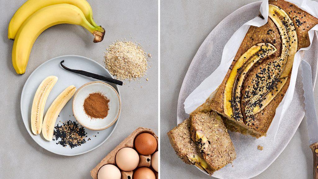 Rezept für einfaches und gesundes Bananenbrot. Glutenfrei und RESET geeignet.