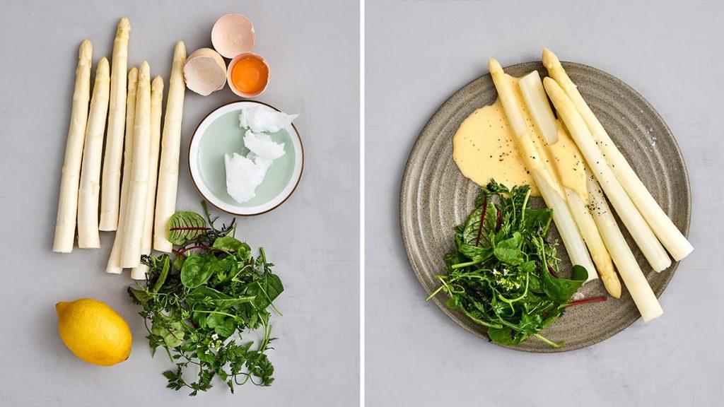 Schnelles Rezept für Spargel mit artgerechter Sauce Hollandaise. Gesund und RESET geeignet.