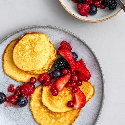 Pancakes mit Beeren