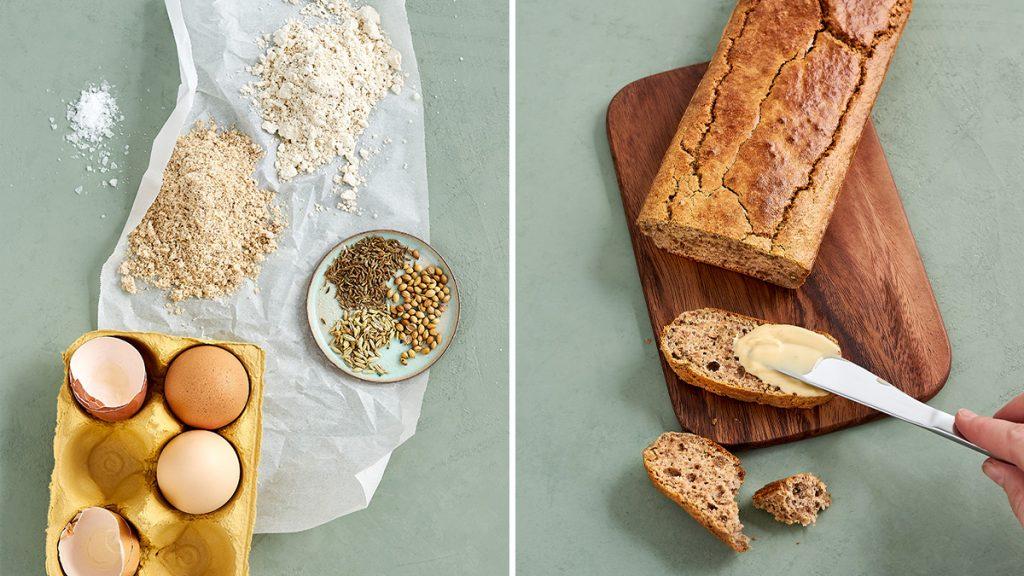 Artgerechtes, glutenfreies Brot. Ein einfaches und schnelles Rezept, saftig und gesund. RESET geeignet.
