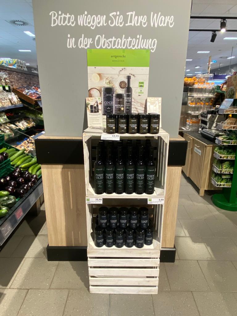 art'gerecht Öl, Manuka und coco bei EDEKA Georg in Frankfurt Riedberg
